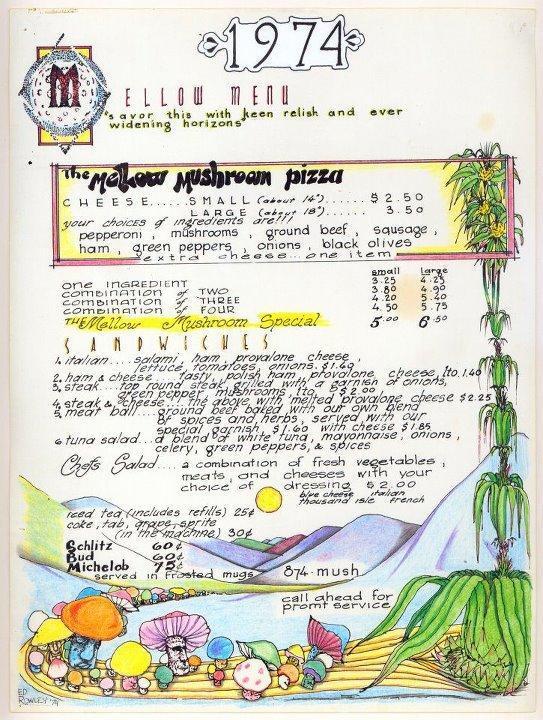 The Original Mellow Mushroom Menu