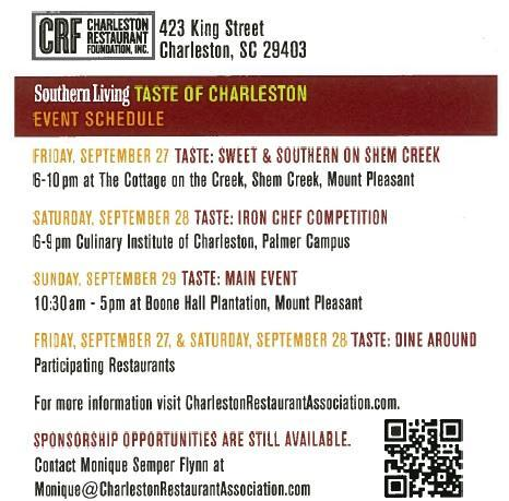 Save the Date Taste 2013 schedule of events