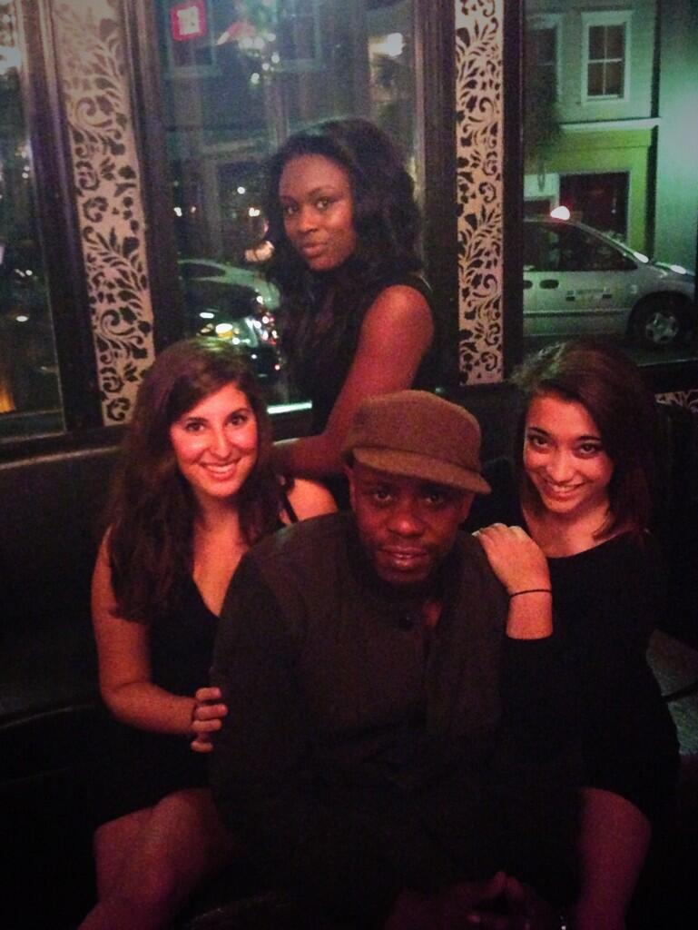 Dave Chappelle with Republic Garden & Lounge Staff Credit: @lawsonroberts