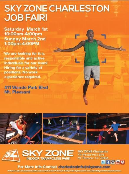Sky Zone Charleston Hosts Two Job Fairs This Weekend Holy City Sinner