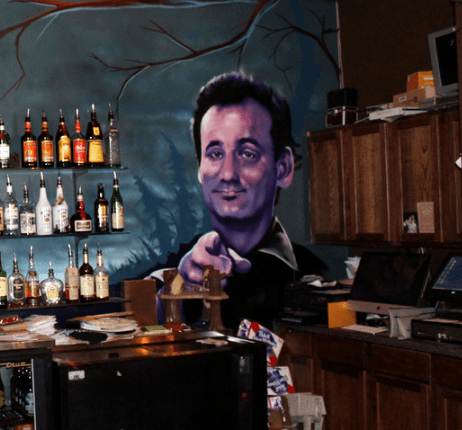 The Bill Murray mural at The Sparrow Credit: Facebook