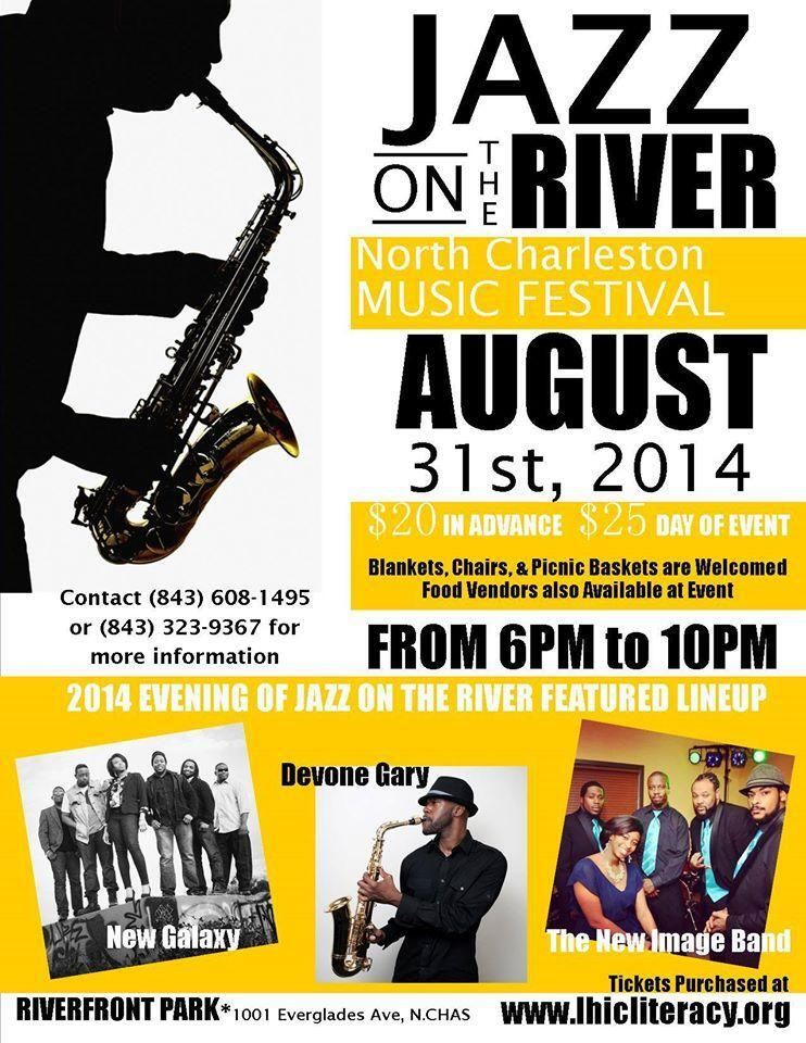 lhic Literacy Jazz on the river event flyer