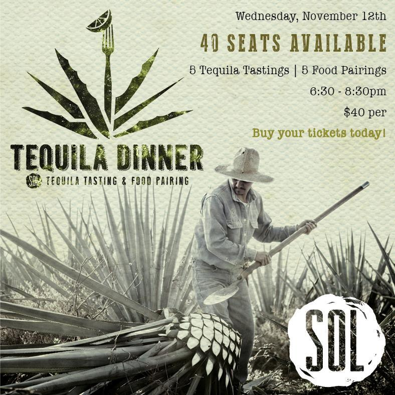 SOL Tequila Dinner