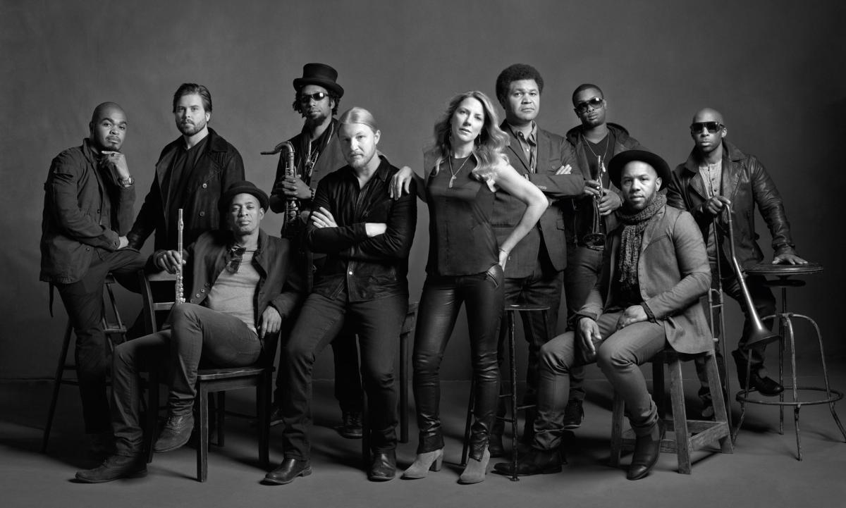 Tedeschi Trucks Band promo shot  B&W - provided by North Charleston Performing Arts Center