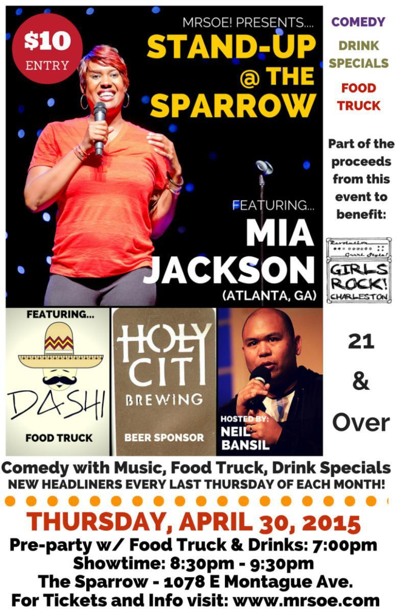 Mia Jackson Stand-Up @ The Sparrow Poster 11x17 Web