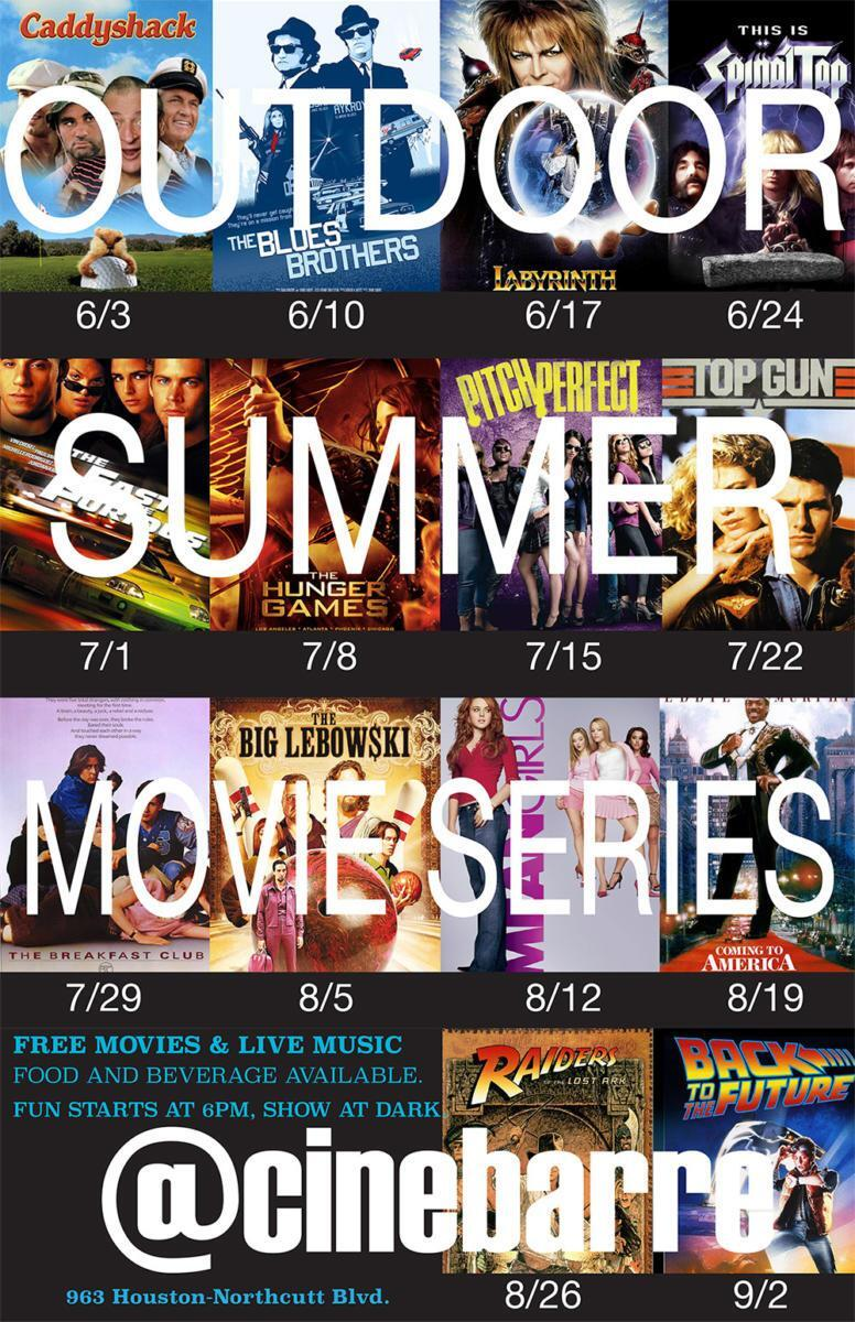 Outdoor summer movie series 2015