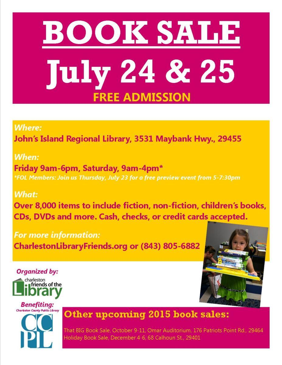 July 2015 Book Sale Flyer