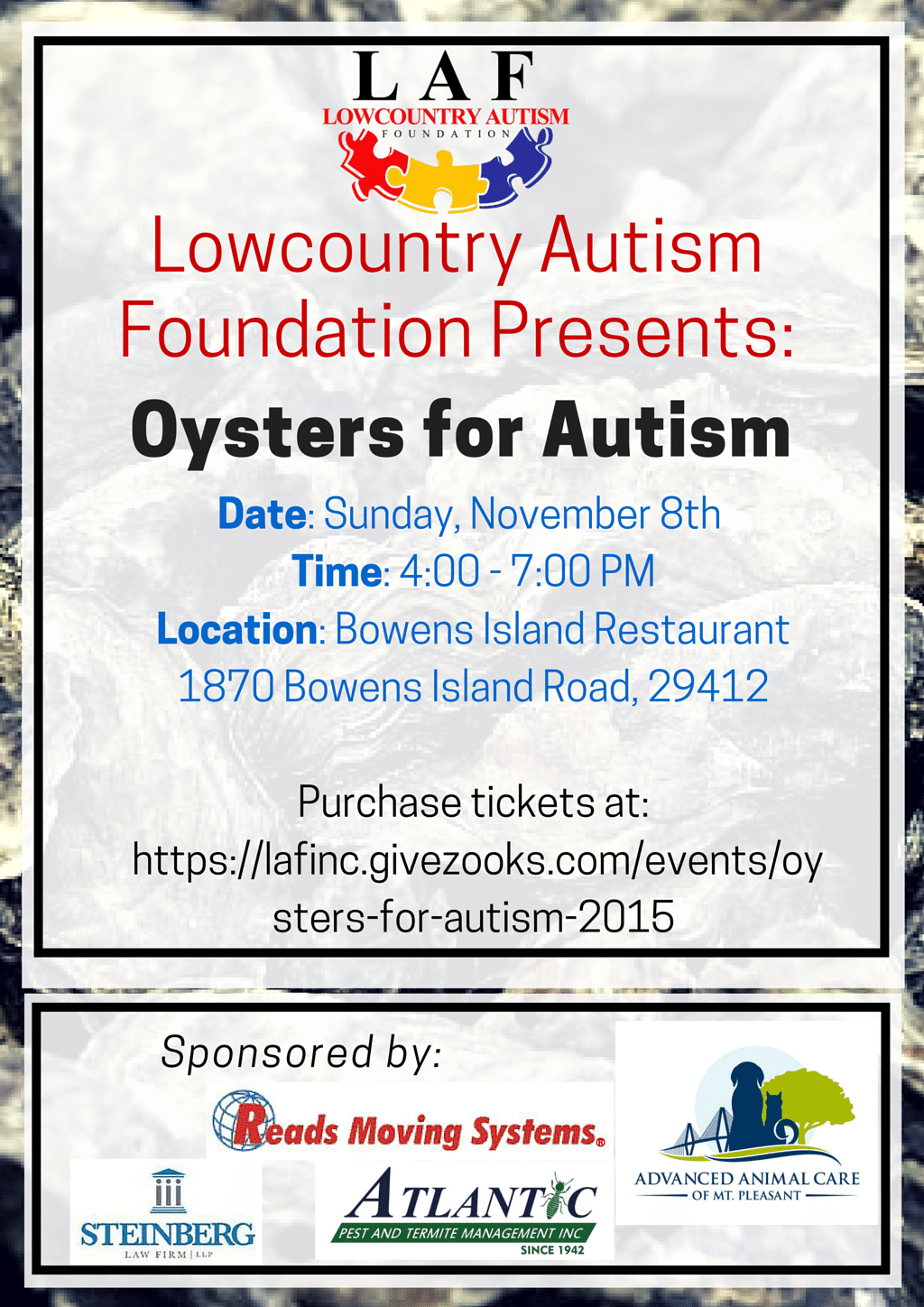 Oysters for Autism Flyer