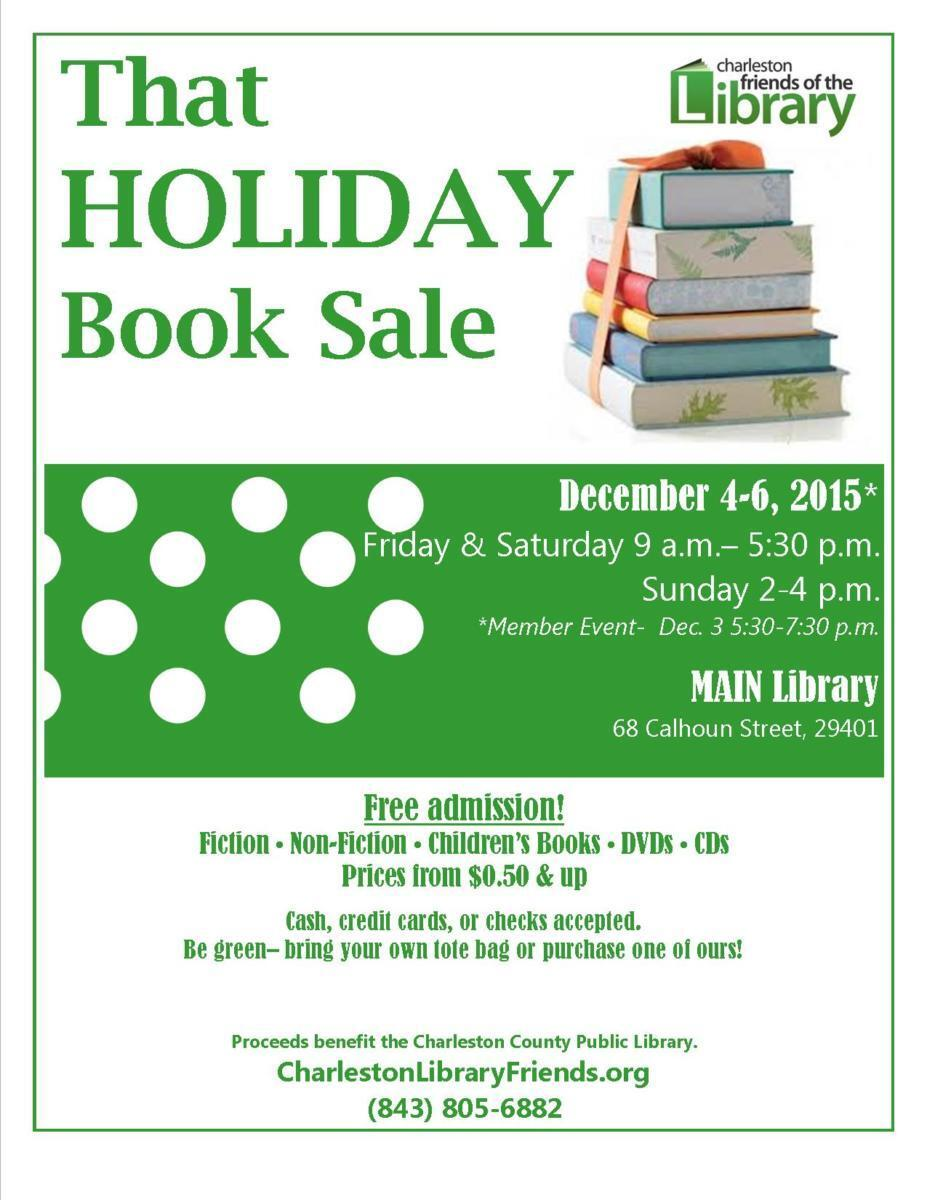 Holiday Book Sale Flyer 2015