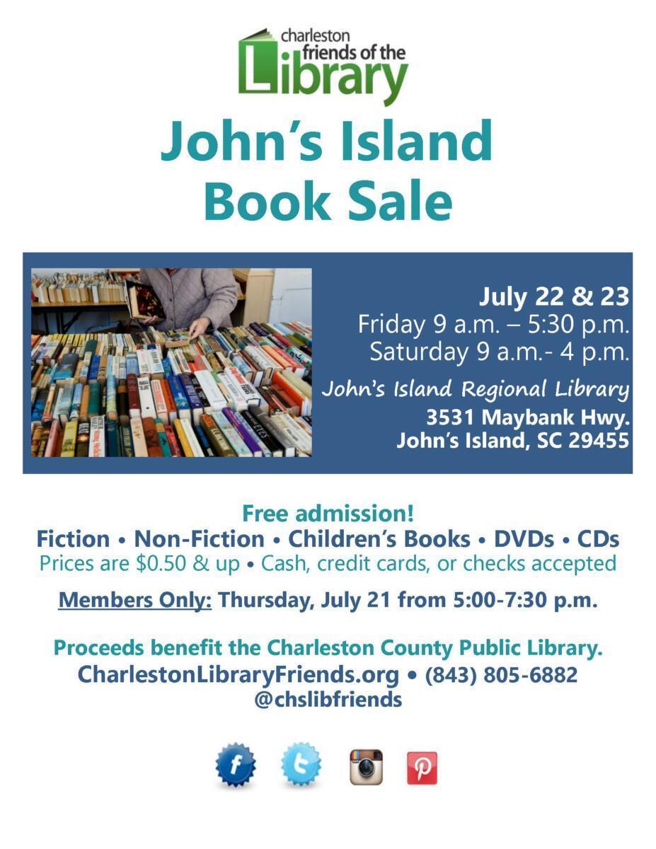 July Book Sale Flyer 2016