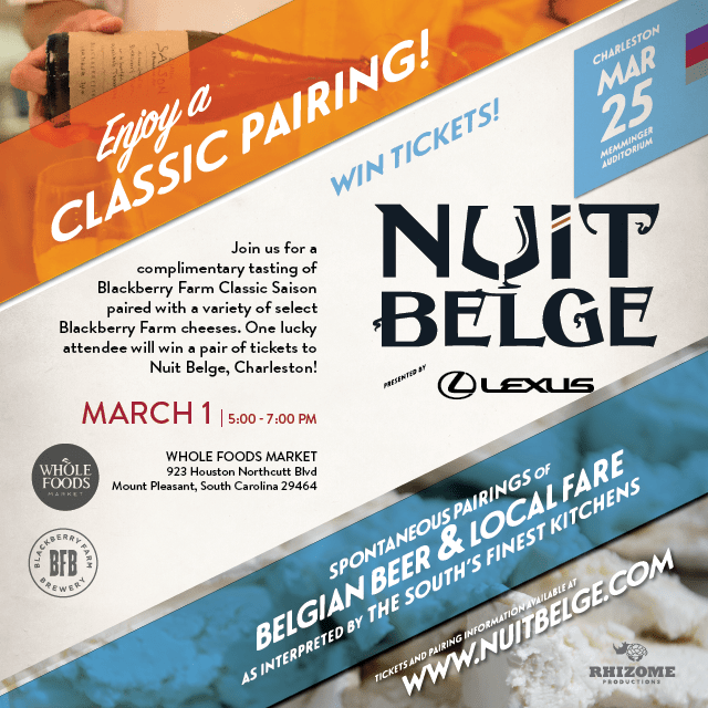 Whole Foods Hosting Nuit Belge Ticket Giveaway and Brewing