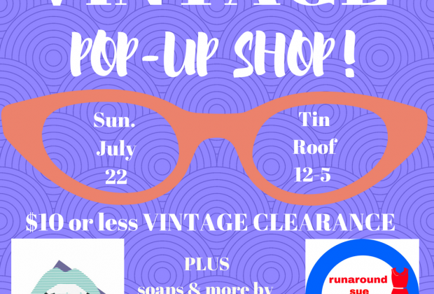 Vintage Clearance Pop Up Sale At Tin Roof On Sunday Holy