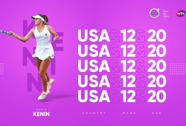 rising american star and world no  12 sofia kenin joins 2020 volvo car open